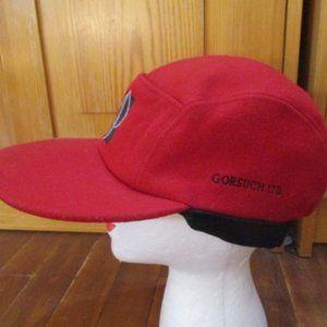 GORSUCH LTD. Red Wool Unisex Wool Hat Cap hat